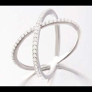 Sterling Silver Cubic Zirconia High Quality Ring